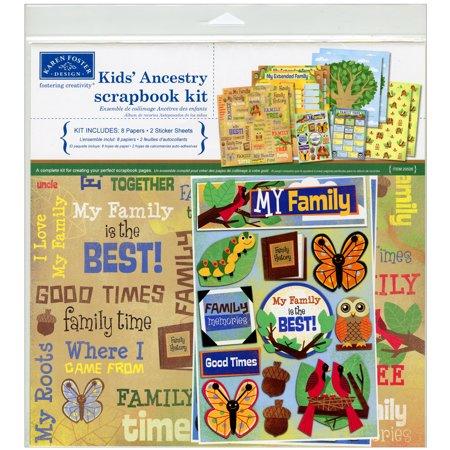 Karen Foster Scrapbook Page Kit 12 X12  Kids Ancestry
