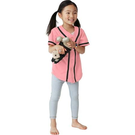 Kids Baseball Jersey Button Down Short Sleeve Unisex Youth Athletic Sportswear Uniform ()