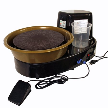 Table Top Pottery Wheel W  Lcd Wheel Speed Display   Includes Foot Pedal And 11   Bat   Reversible Spin Direction
