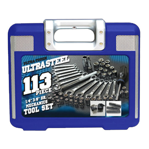 Ultra Steel 113-pc Mechanics Tool Set