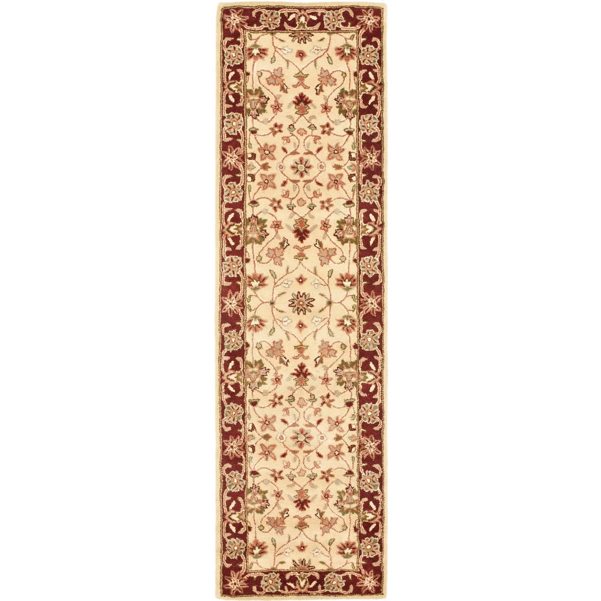 Safavieh Heritage Bernica Hand-Tufted Wool Runner Rug, Ivory/Red