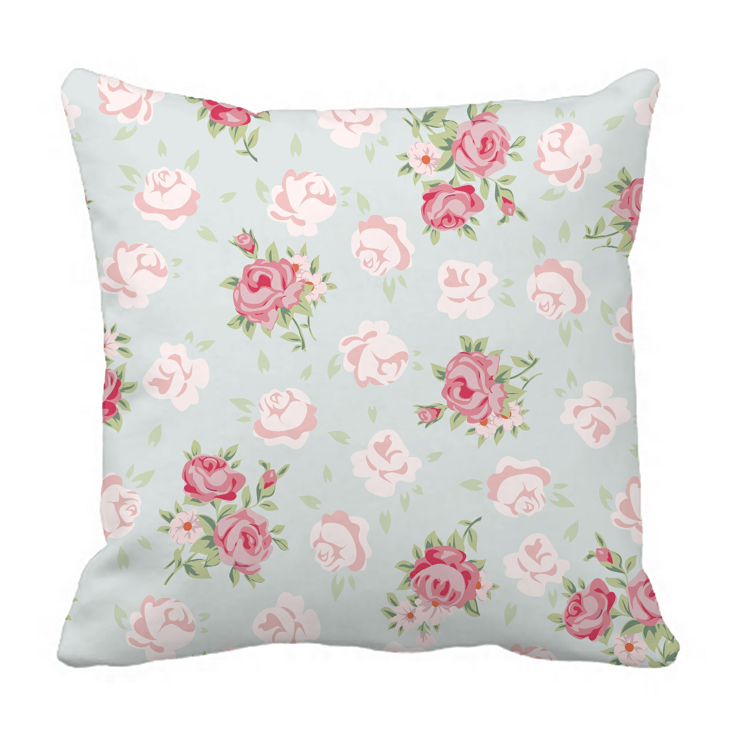 """16/"""" 1960//70/'s Yellow Vintage Floral Cushion Cover Shabby Chic Country Cottage"""