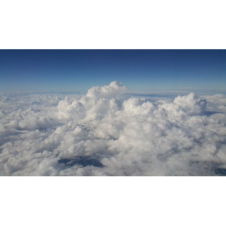 LAMINATED POSTER Nature Sky Blue High The Expanse Cloud Poster Print 24 x 36
