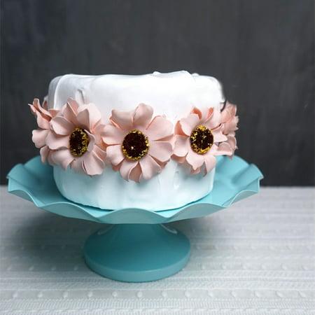Meigar Cake Stand Round Metal Cupcake Stand Pedestal Dessert Display Holder Wedding Birthday Party - Silverplate Pedestal