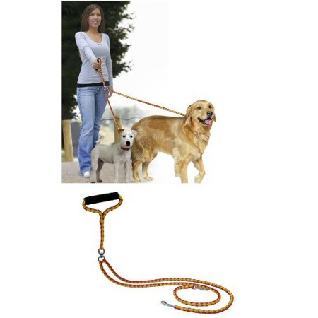52'' No-Tangle Dual Dog Leash with Swivel, Comfortably Walks Two Dogs Weighing Up To 500 Pounds At Once, USA, Brand Pet Parade