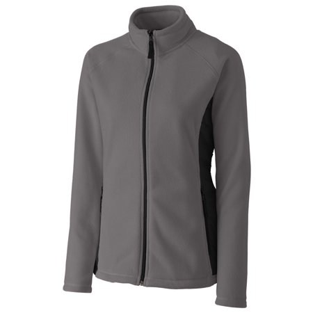 Womens Microfleece Full Zip Jacket - Clique Women's Microfleece Hybrid Full Zip Jacket