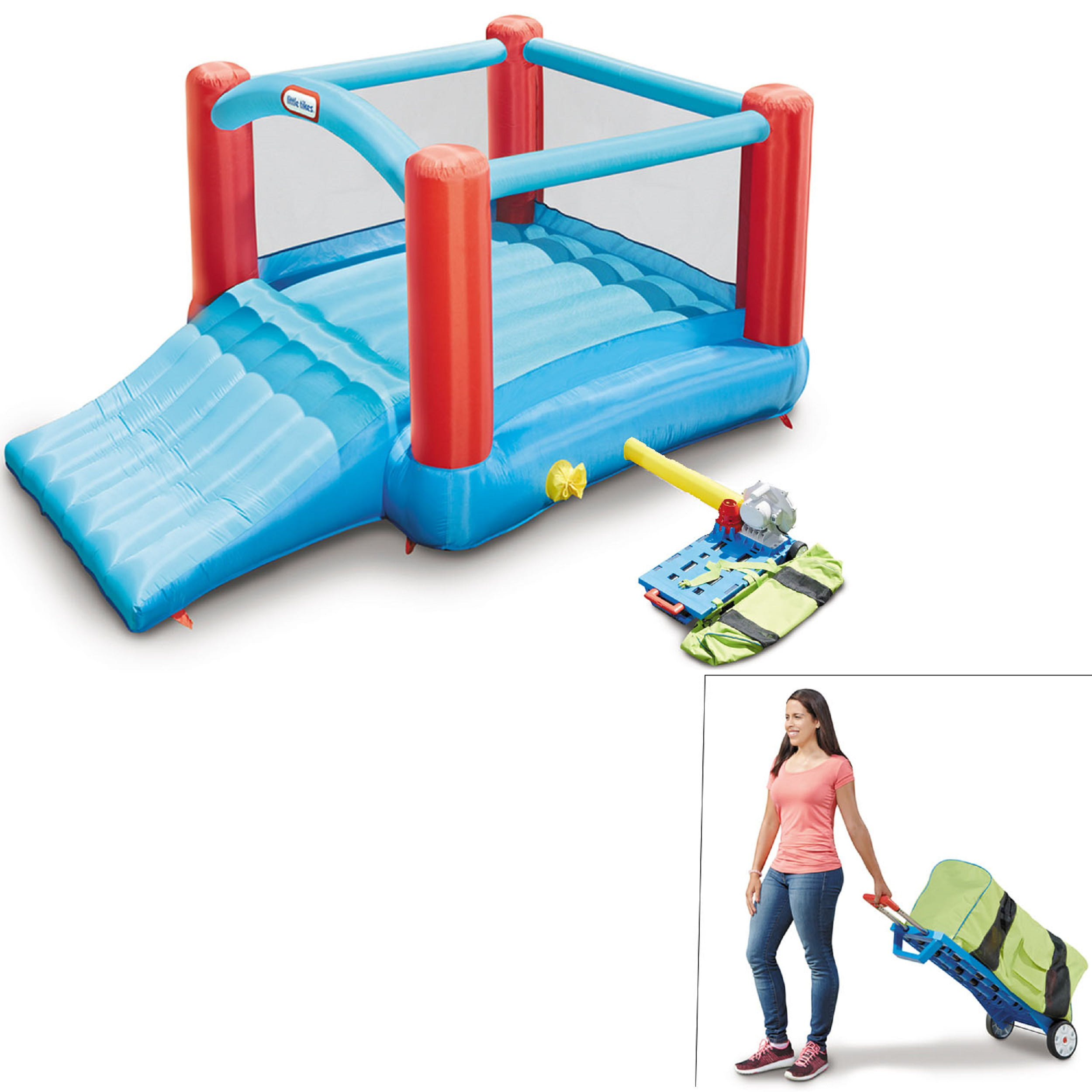 Little Tikes Pack 'N Roll Inflatable Bounce House w Wheeled Carry Case by MGA Entertainment