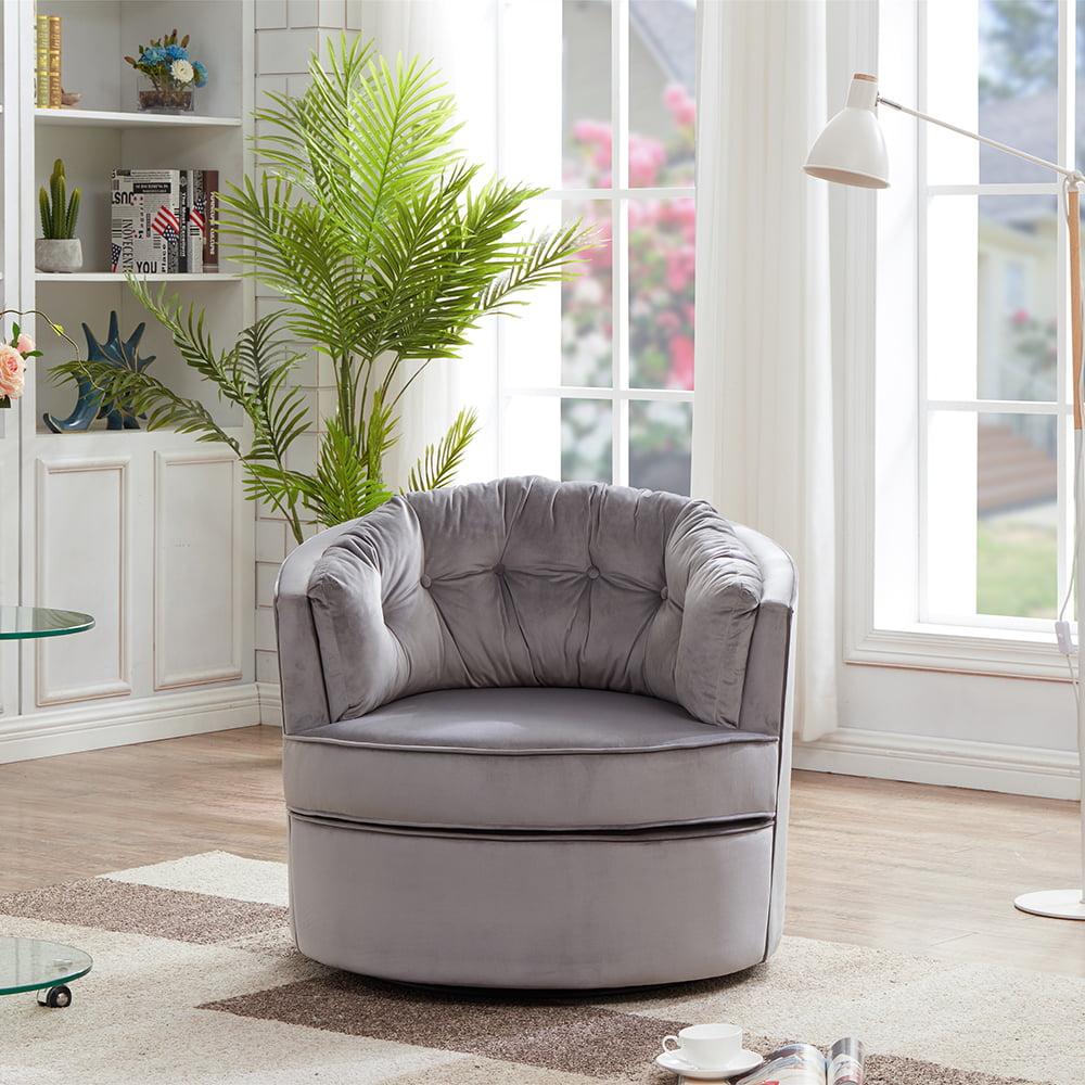 Velvet Swivel Shell Chair, Modern Velvet Accent ...