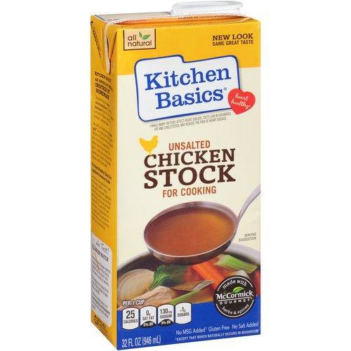 Kitchen Basics Unsalted Chicken Cooking Stock, 32 fl oz
