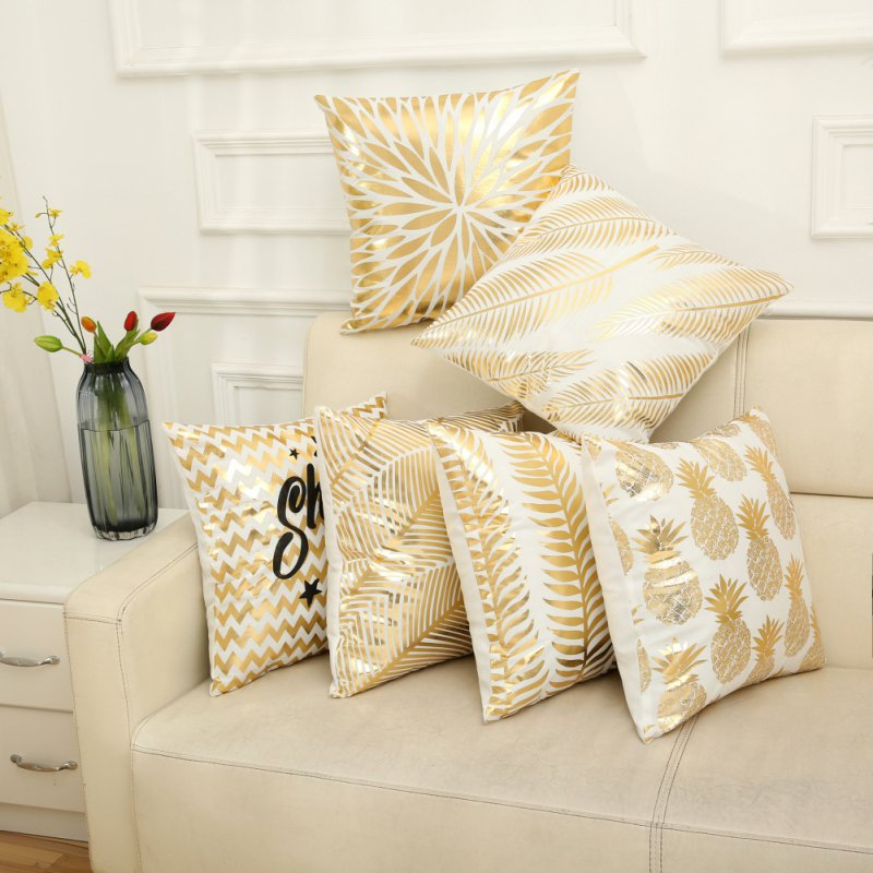 ENJOY Supersoft Square Bronzing Pillow Cover Cushion Cover Home Decors