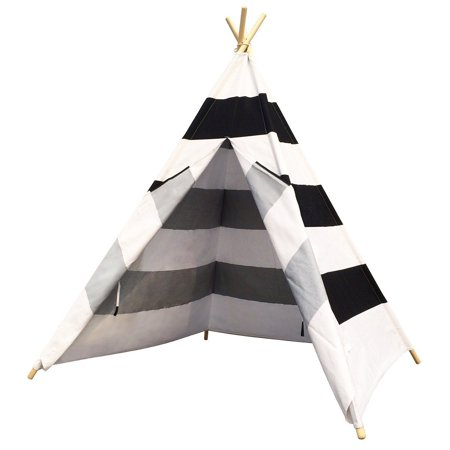 Kids Play House Tent Cotton Canvas Teepee Play Tent Indoor Play Tent for Girls and Boys - Girl Teepee
