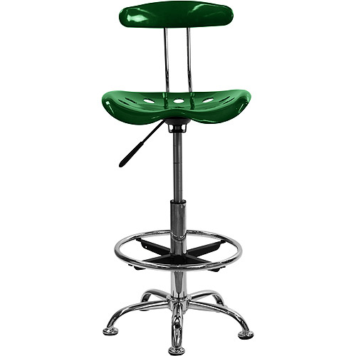 adjustable height drafting stool with tractor seat multiple colors walmartcom