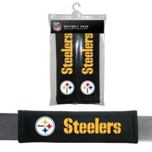 Pittsburgh Steelers Velour Seat Belt Pads - image 1 de 1