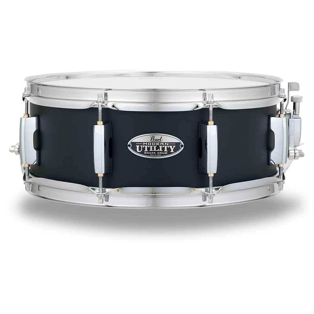 "Pearl MUS1350M227 Modern Utility 13""x5"" Maple Snare Drum - Satin Black"