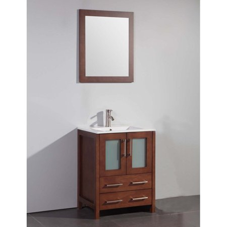 Legion Furniture WA7924C 24-in. Single Bathroom Vanity Set - Cherry