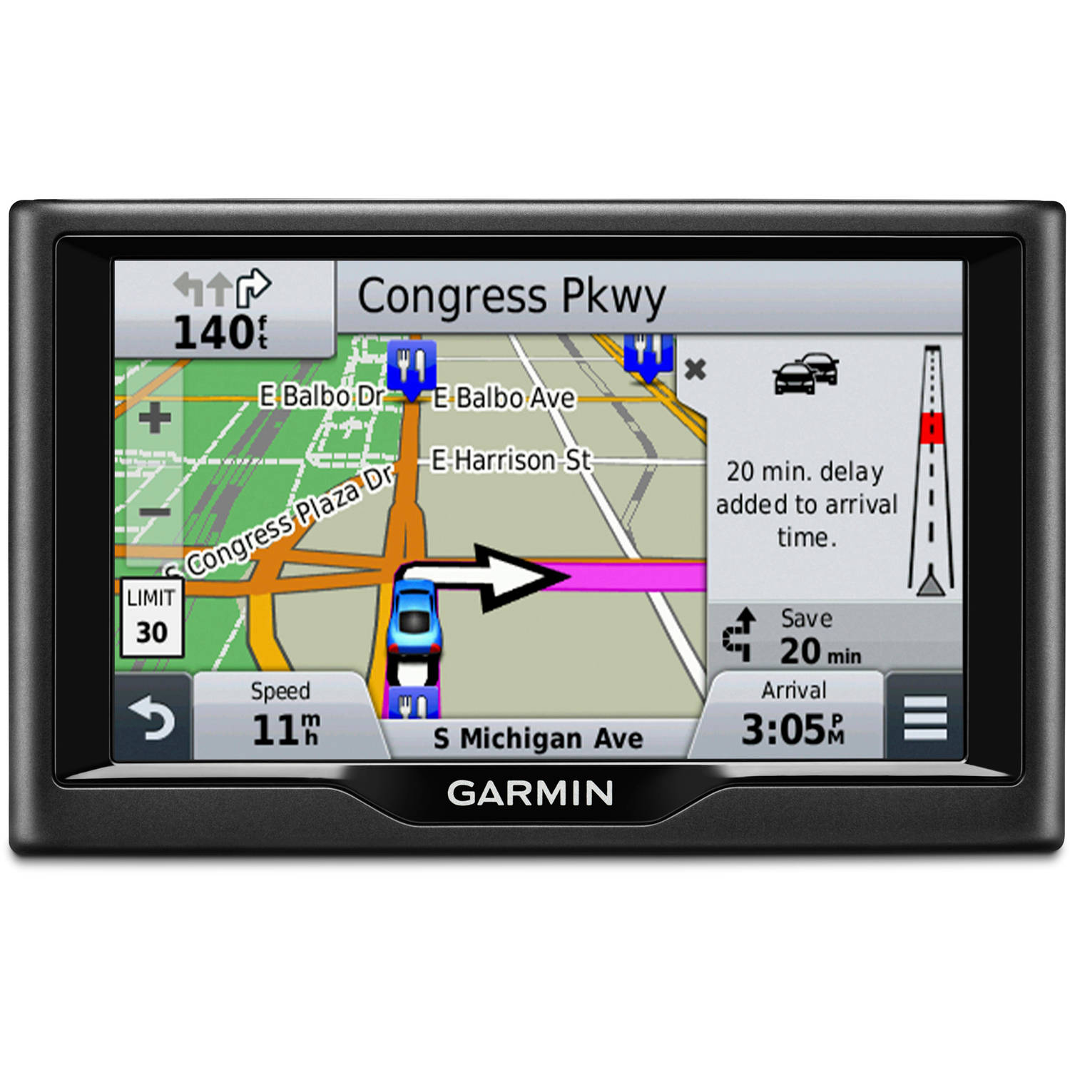 "Garmin nuvi 57LMT 5"" GPS Unit with US Map of 49 states"