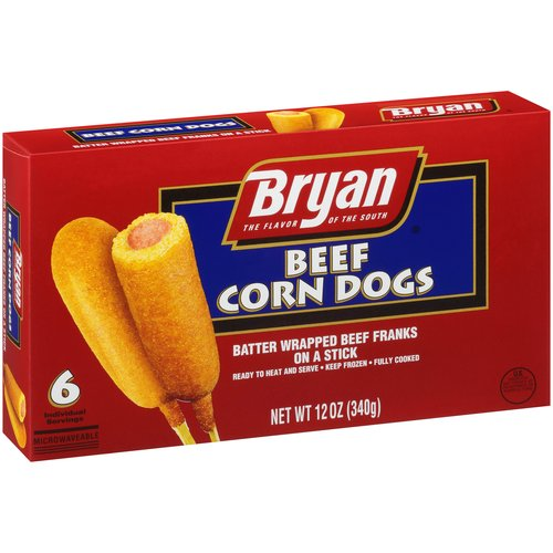 Bryan Beef Corn Dogs, 12 oz