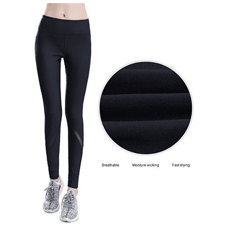 7d6389e93401e Budalga - Budalga Compression Yoga Pants Women's High Waist Workout Mesh  Leggings Tummy Control Power Stretch Fitness Running Flex Yoga Pants S -  Walmart. ...