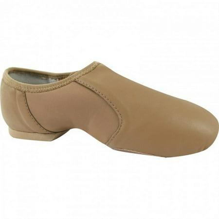 Dance Class Kids Tan Split-Sole Slip On Jazz Shoes