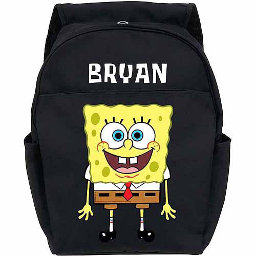 Personalized SpongeBob SquarePants Youth Black Backpack