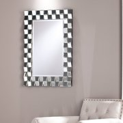 Trisha Geometric Glam Mirror, Silver