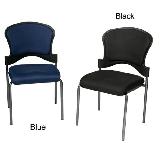 Office Star Products Office Star Upholstered Contour Back Armless Visitor Chair