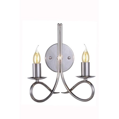 New Product Elegant Lighting & Furniture The Lyndon Collection 2  Light Finest Crystal  Wall Lighting in  Polished Nickel Finish 1452W9PN Sold By VaasuHomes ()