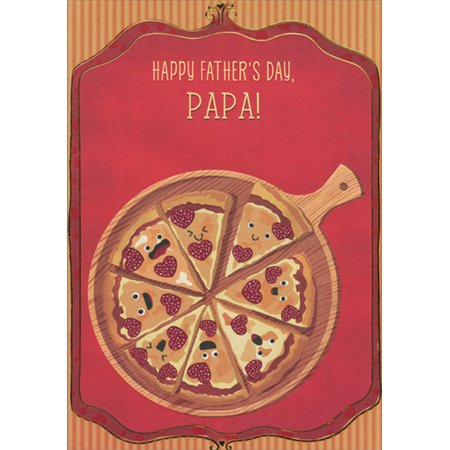 Designer Greetings Pizza Slices with Silly Faces Juvenile / Kids Father's Day Card for Papa - Papa Murphy's Halloween Pizza