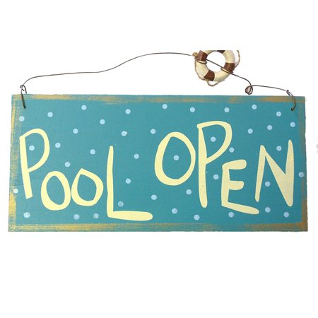 Ohio Wholesale Two Sided Pool Sign With Wire Hanging - Metal Signs Wholesale