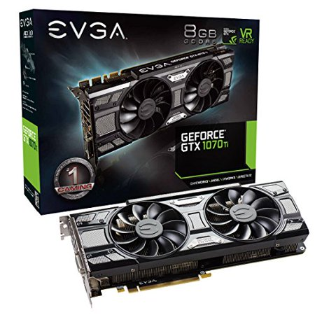 Used Like New EVGA GeForce GTX 1070 Ti SC GAMING ACX 3.0 Black Edition, 8GB GDDR5, EVGA OCX Scanner OC, White LED, DX12OSD Support (PXOC) Graphics Card