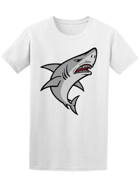 Cool Angry Shark Cartoon Tee Men's -Image by Shutterstock