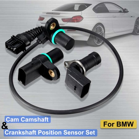 Crankshaft Speed Sensor (MATCC Intake & Exhaust Cam Camshaft Sensor & Crankshaft Position Sensor CPS With O-R For  E46 12147539165 12147518628 12141709616 Replacement US)