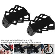 YLSHRF Bike Accessory,Bike Iron Rear Pedal,2pcs Mountain Terrain Bicycle Iron Rear Pedal Feetpegs Anti-slip Foot Rest with 5mm Hole
