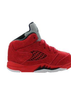 5cff95072f92 Kids Air Jordan 5 V Retro TD Red Suede University Red Black 440890-602