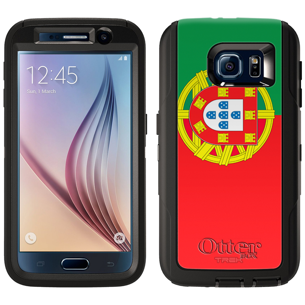 OtterBox Defender Samsung Galaxy S6 Case Portugal Flag OtterBox Case by Trek Media Group