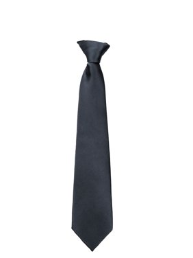 c60a910d3357 Product Image Boys Young Men 14 inch Solid Color Clip On Easy to Remove  Clip Necktie Ties