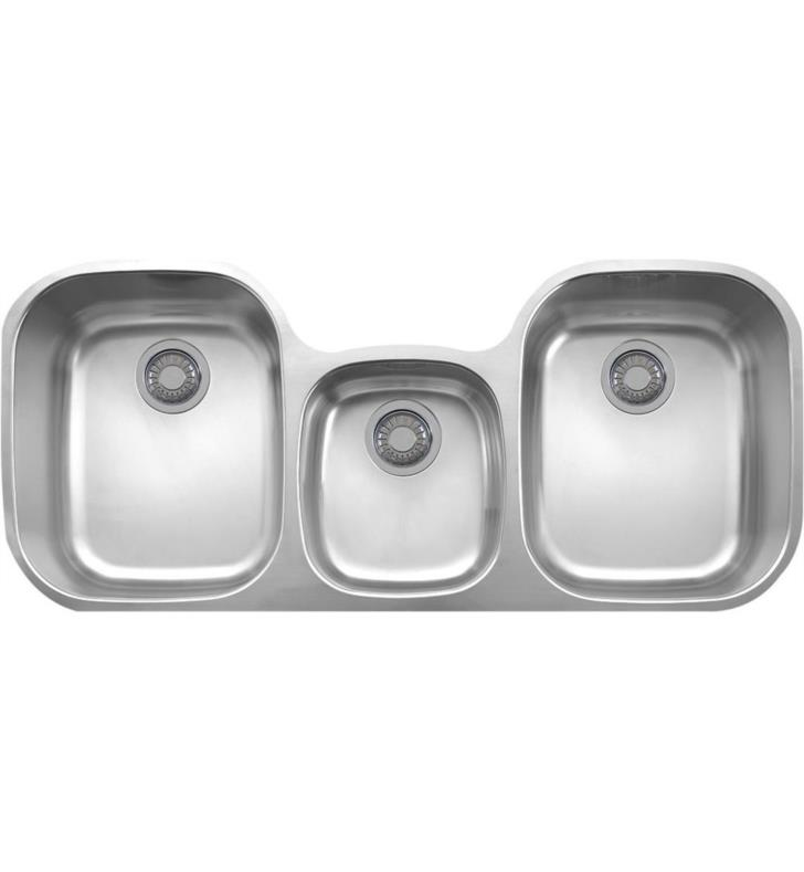 Franke RGX170 Stainless Steel Regatta Triple Basin Stainless Steel Kitchen Sink from the Regetta Series