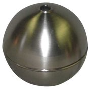 NAUGATUCK GRT60S418C Float Ball,Round,SS,6 In