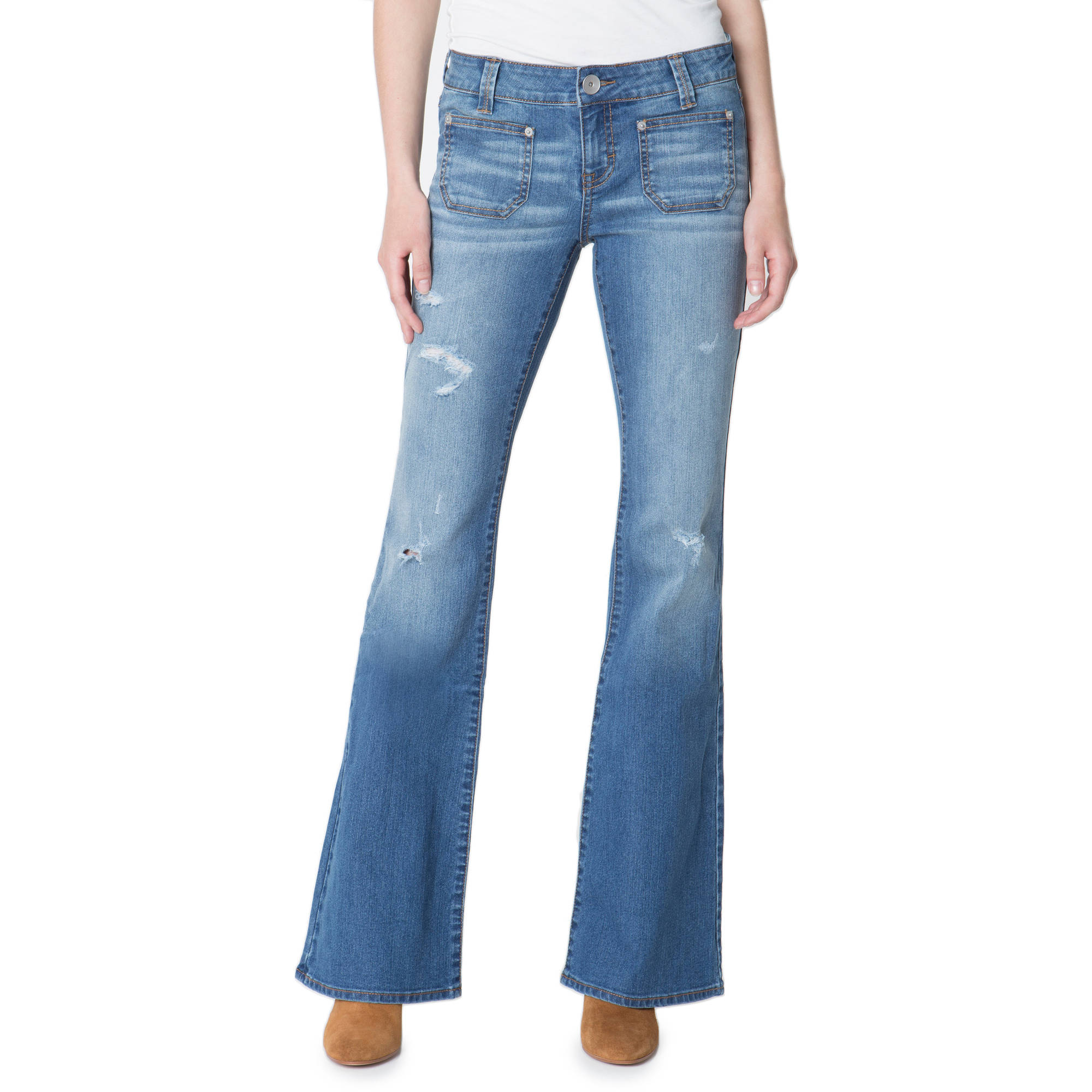 G21 Juniors' Flared Jeans with Patch Pockets