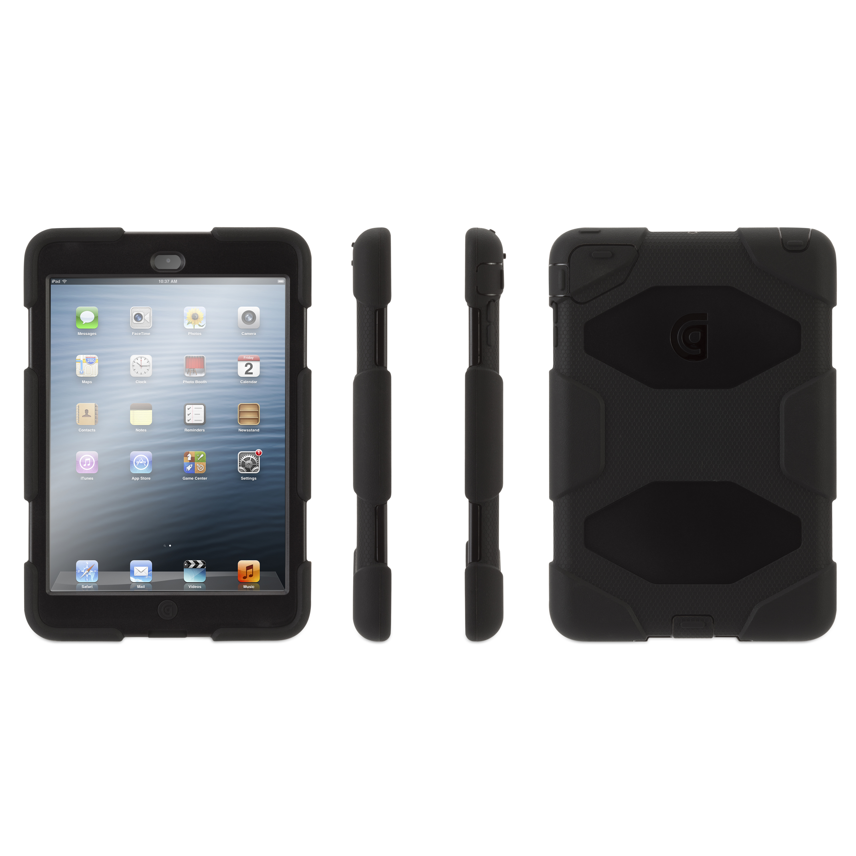 Griffin Technology Survivor Case for Apple iPad mini, Black