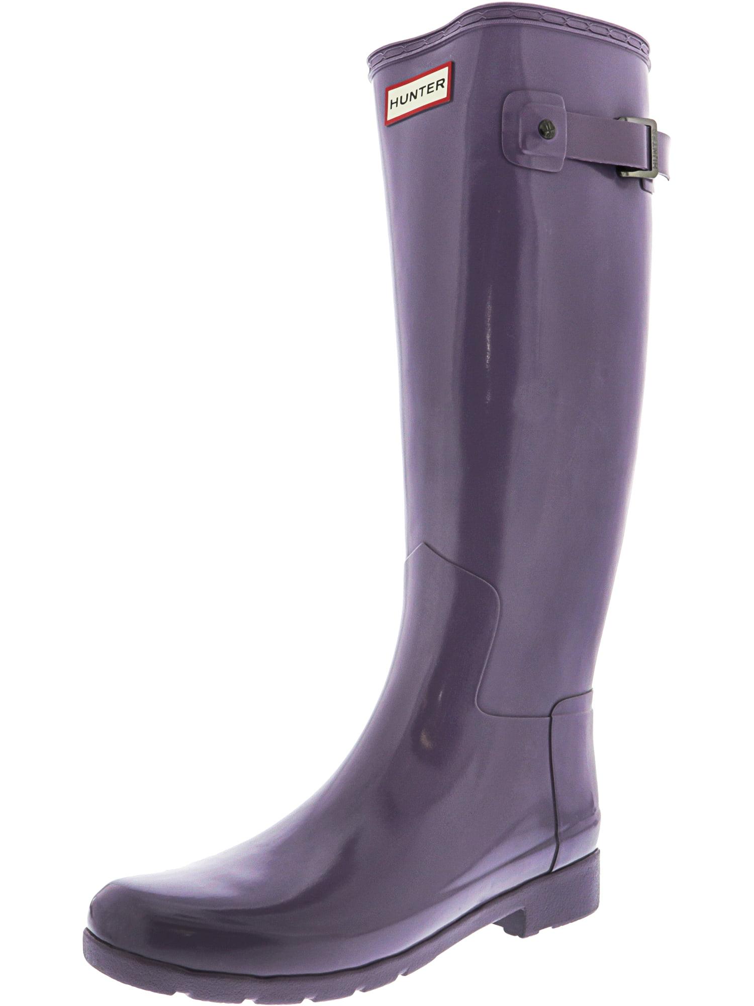 8be187824 Hunter - Hunter Women's Original Refined Knee-High Rubber Rain Boot - 8M -  Gloss Sage - Walmart.com