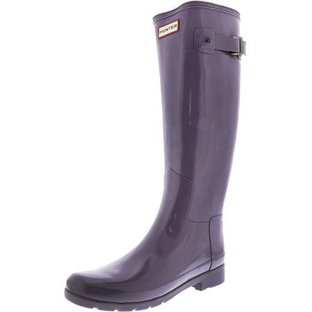 323588ed1cb Hunter Women's Original Refined Knee-High Rubber Rain Boot - 7M - Gloss  Thundercloud
