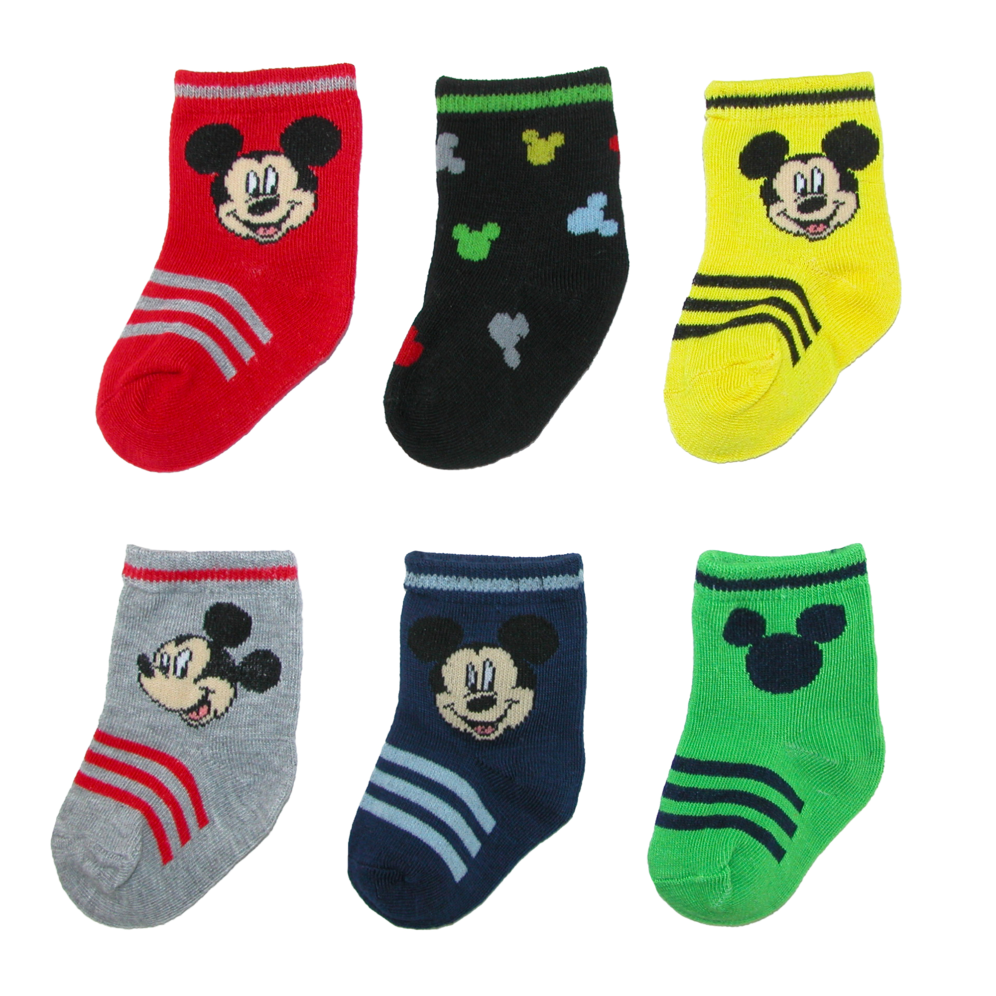 Disney Baby Boy Mickey Mouse Socks 6 Pair Pack Walmart Com