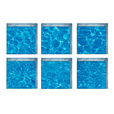6 Pcs/Set PVC Bathtub Stickers 3D DIY Tub Appliques Decals Vivid Anti Slip Wall Sticker Safety Shower Bath