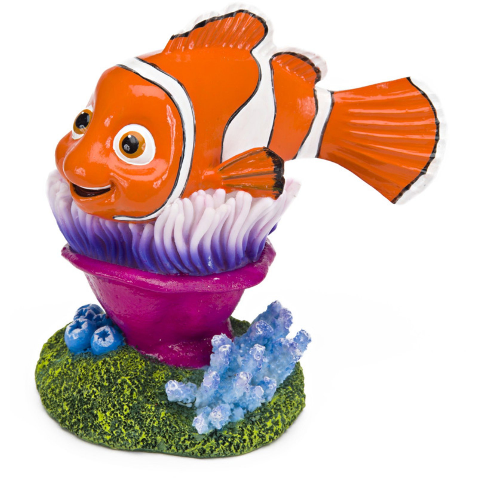 Penn Plax Finding Nemo On Anemone 4 in. Aquarium Ornament