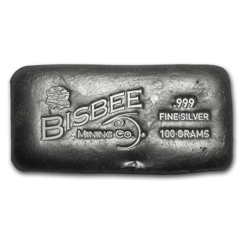 100 Gram Silver Bar Bisbee Walmart Com