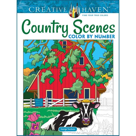 Dover® Creative Haven Country Scenes Color by Number Coloring - Coloring By Numbers