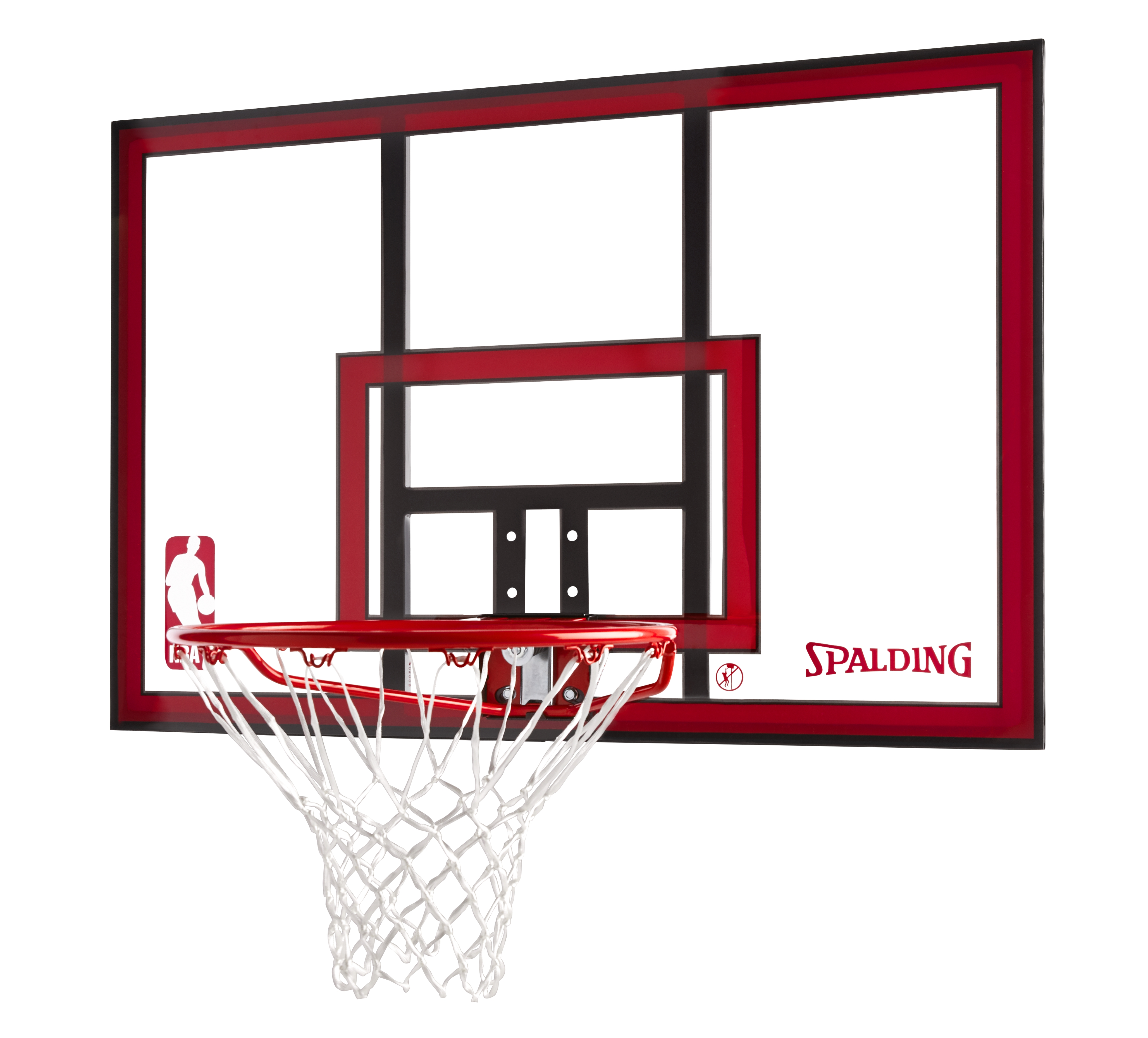 Spalding 79351 NBA Polycarbonate 44 Inch Basketball Backboard & Rim Combo