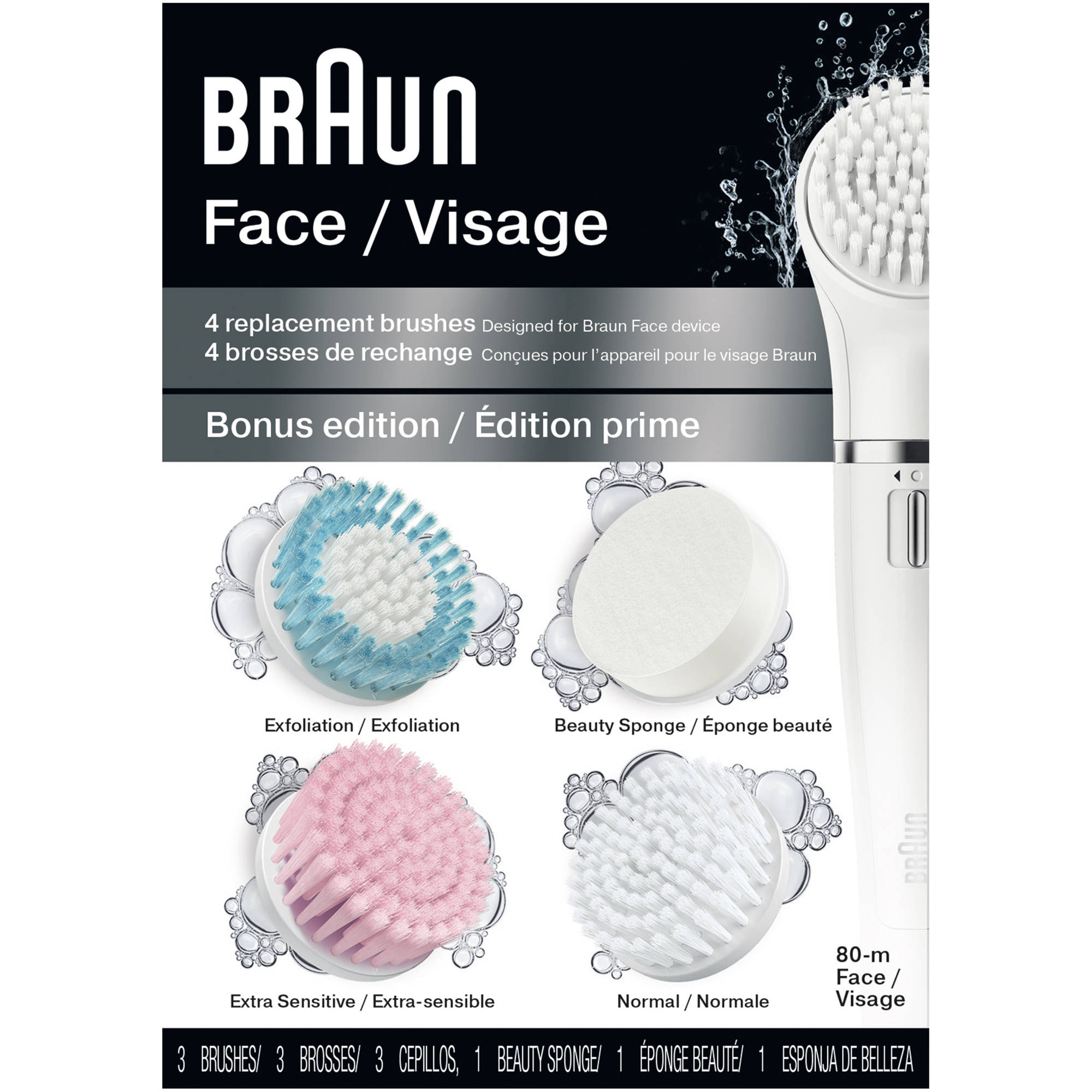 Braun Face 80-m Bonus Edition Replacement Brushes, 4 pc