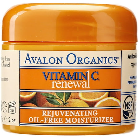 Avalon Organics Vitamin C Renewal Rejuvenating Oil-Free Moisturizer 2 oz (Pack of 2)